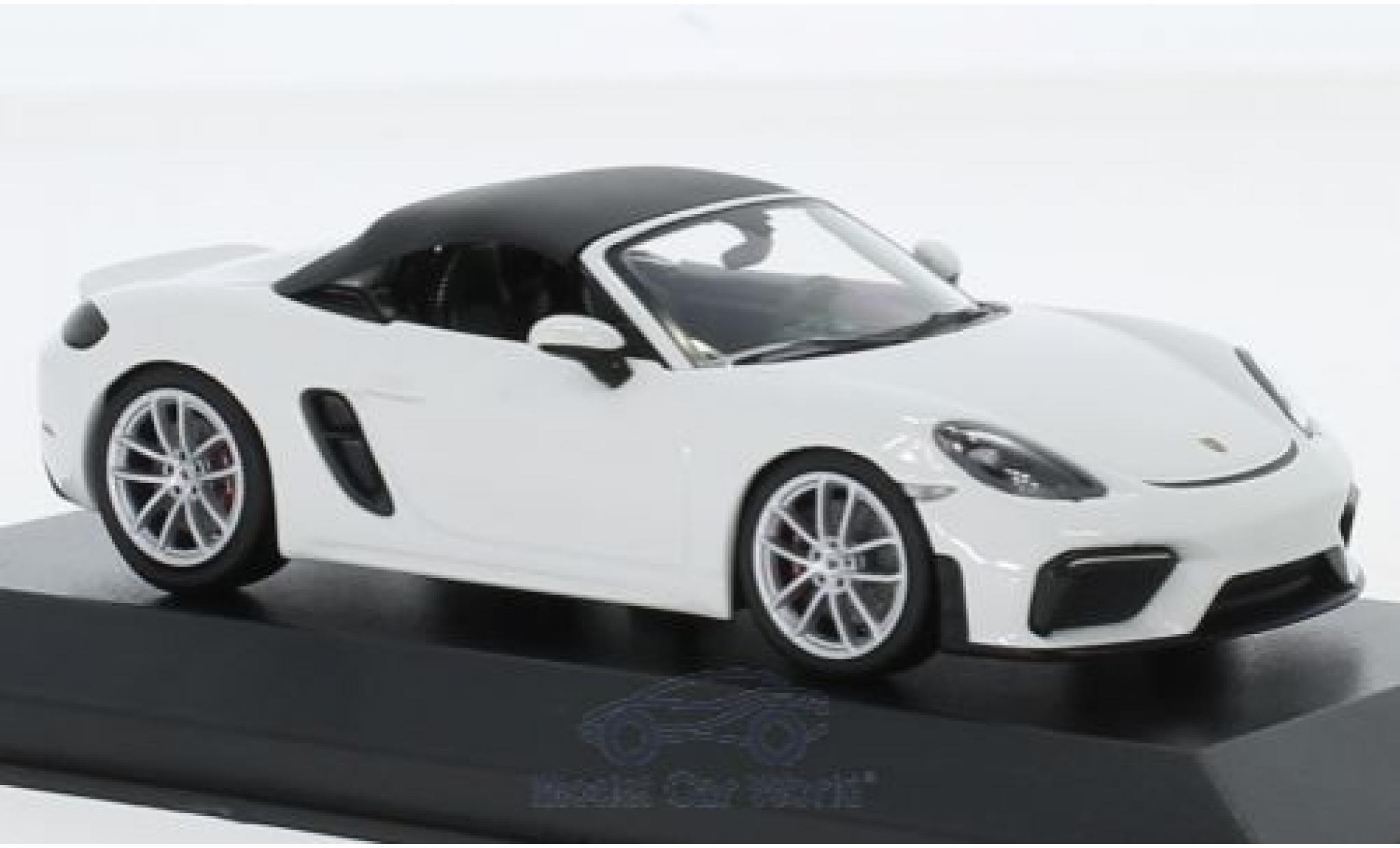 Porsche Boxster 1/43 Minichamps 718 (982) Spyder blanche 2019