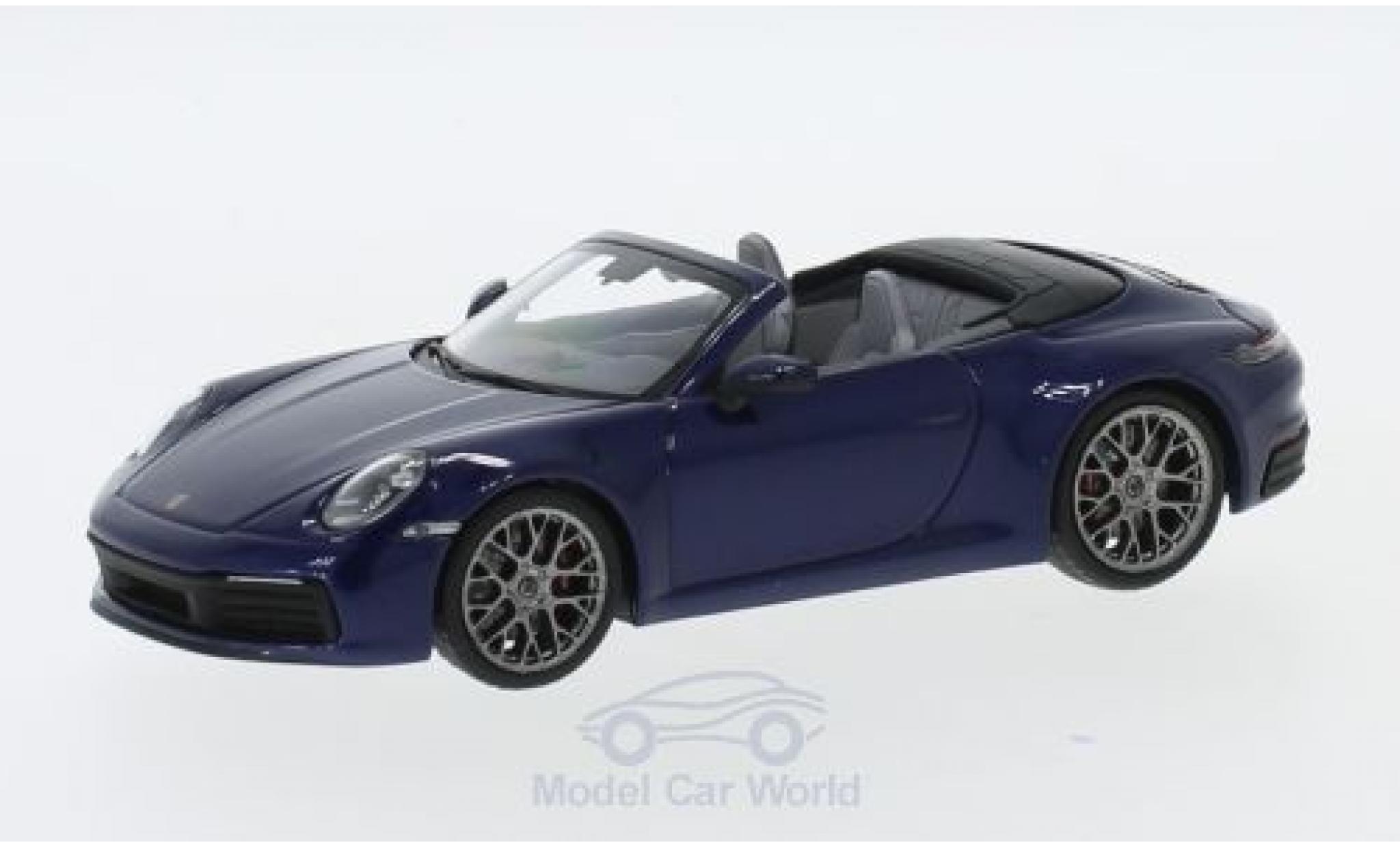Porsche 911 1/43 I Minichamps (992) Carrera 4S Cabriolet métallisé bleue 2019