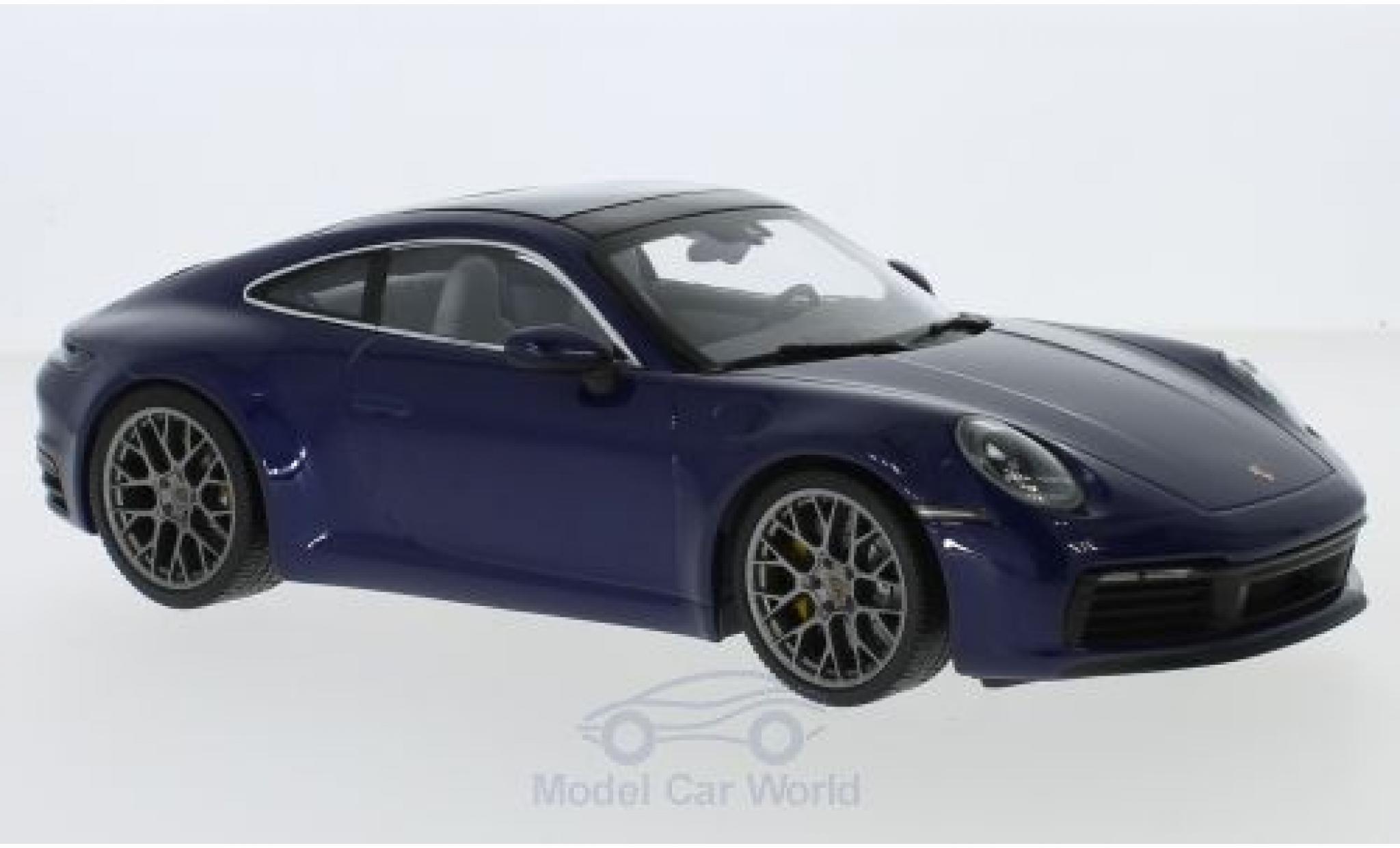 Porsche 992 SC 1/18 Minichamps (992) Carrera 4S dunkelbleue 2019