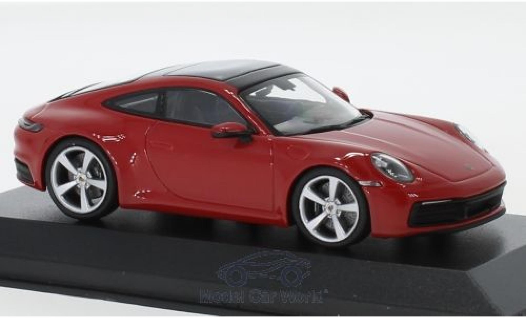 Porsche 992 S 1/43 Minichamps 911  Carrera red 2019