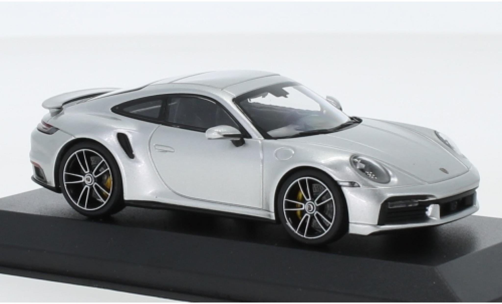 Porsche 992 Turbo s 1/43 I Minichamps 911  Turbo S grise 2020