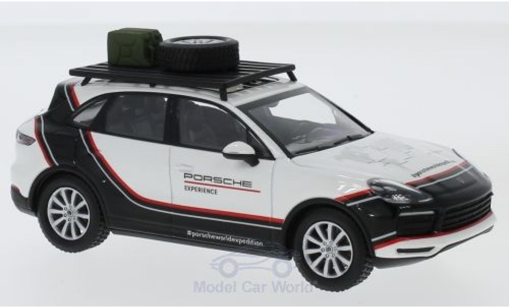 Porsche Cayenne S 1/43 Minichamps blanche/noire 2018 World Expedition