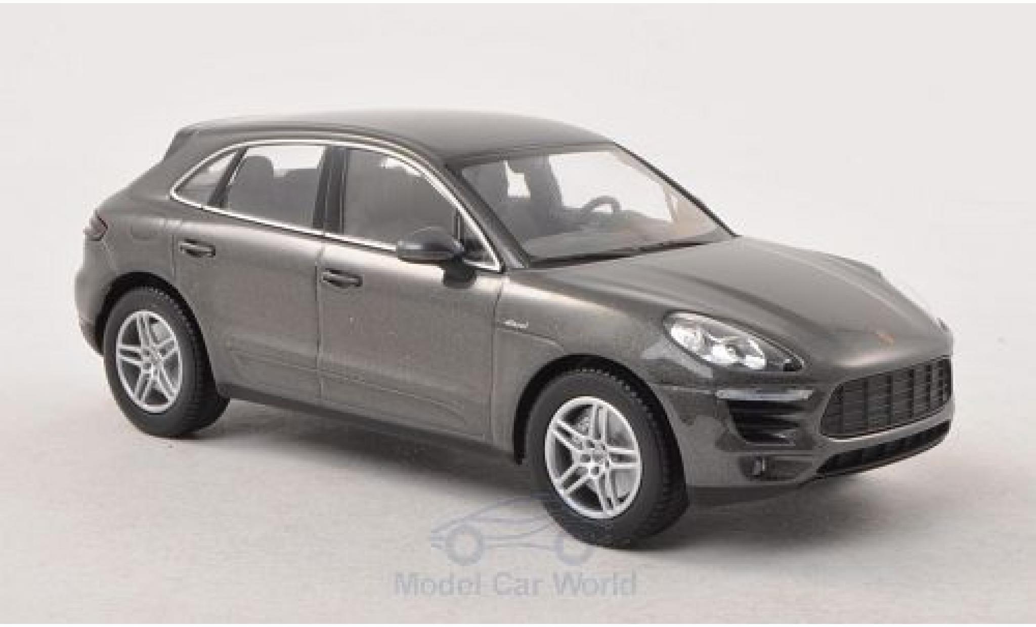 Porsche Macan S 1/43 Minichamps Diesel metallise grau