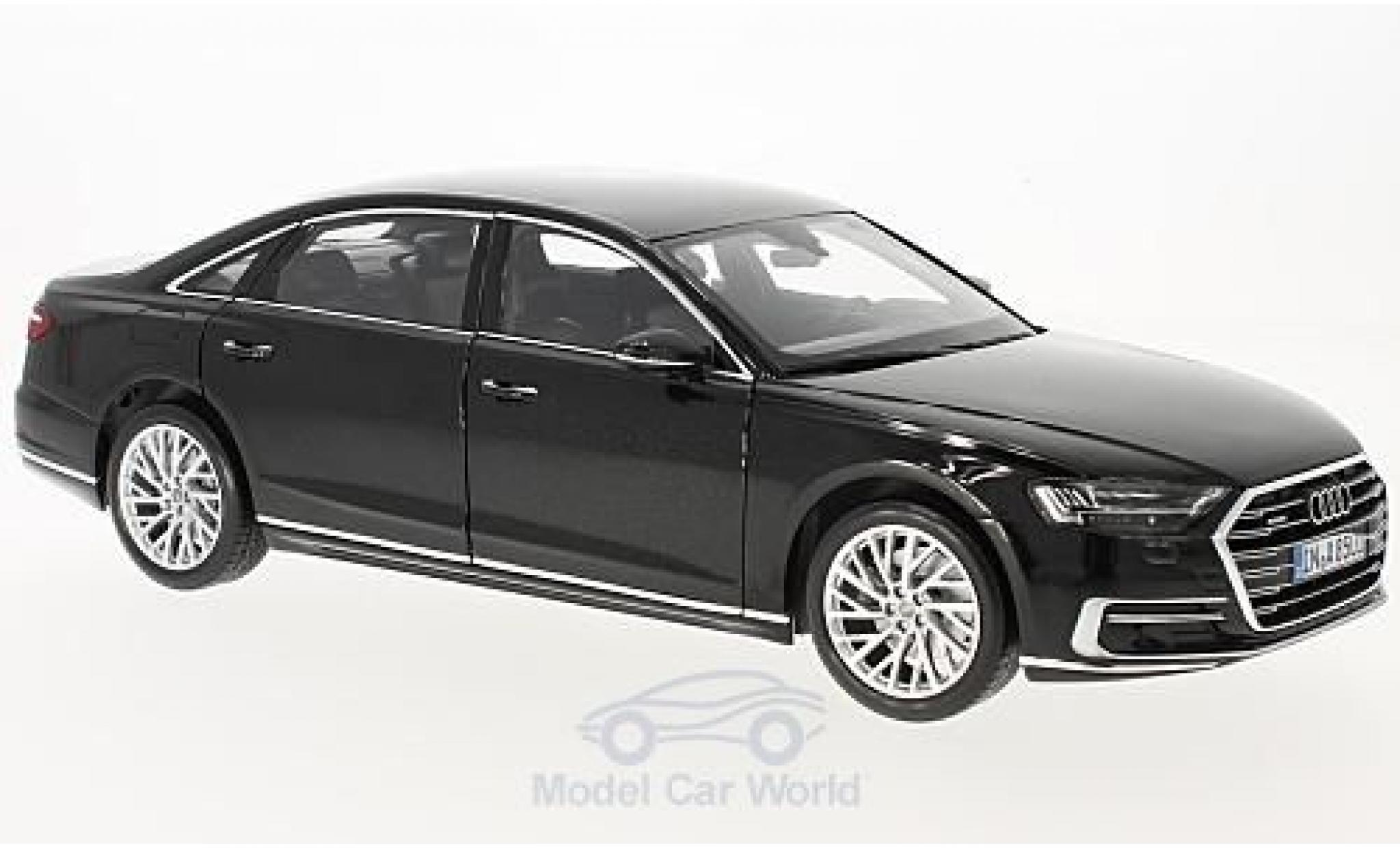Audi A8 1/18 Norev L metallise noire 2017