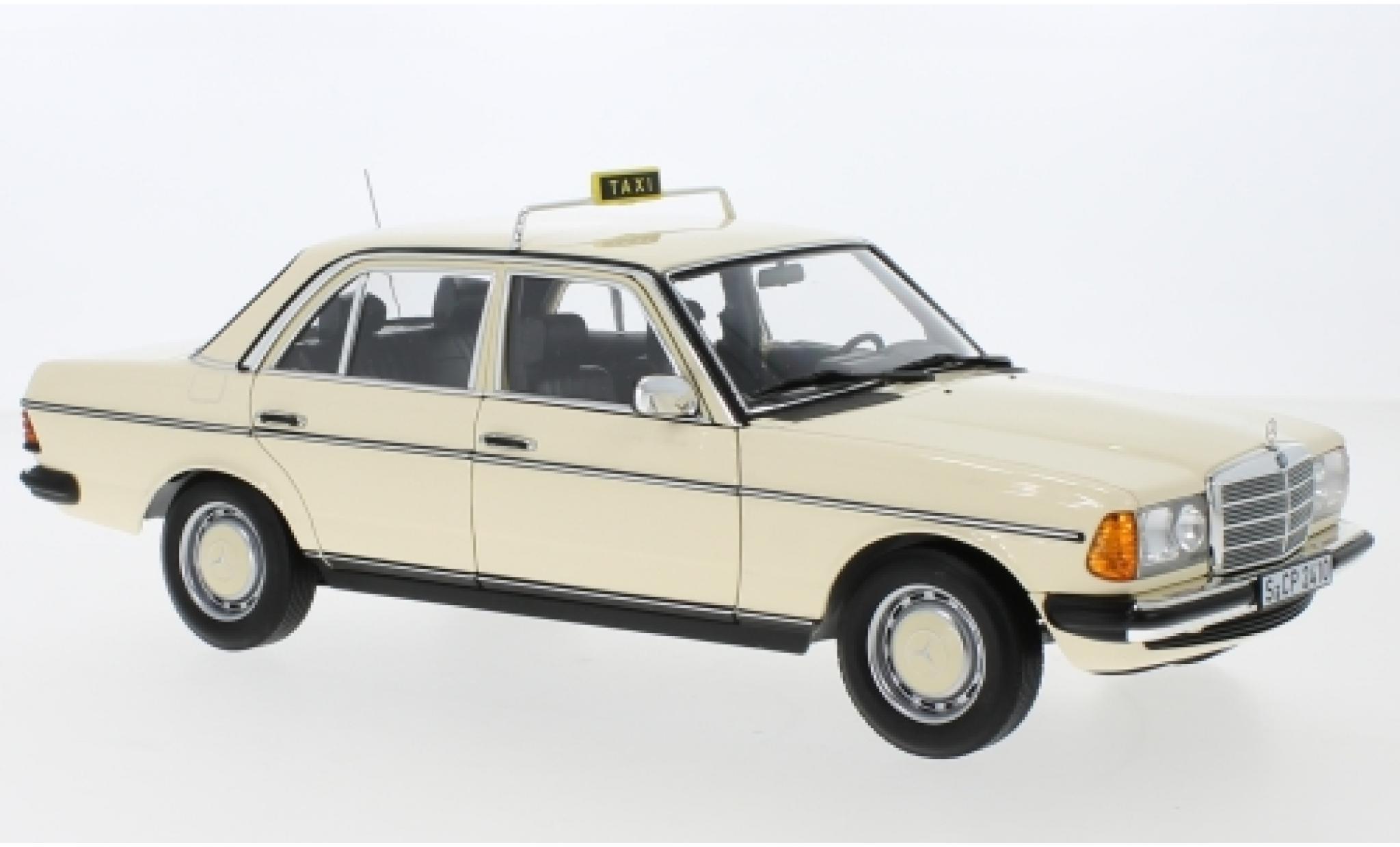 Mercedes 200 1/18 I Norev (W123) beige Taxi (D) 1980