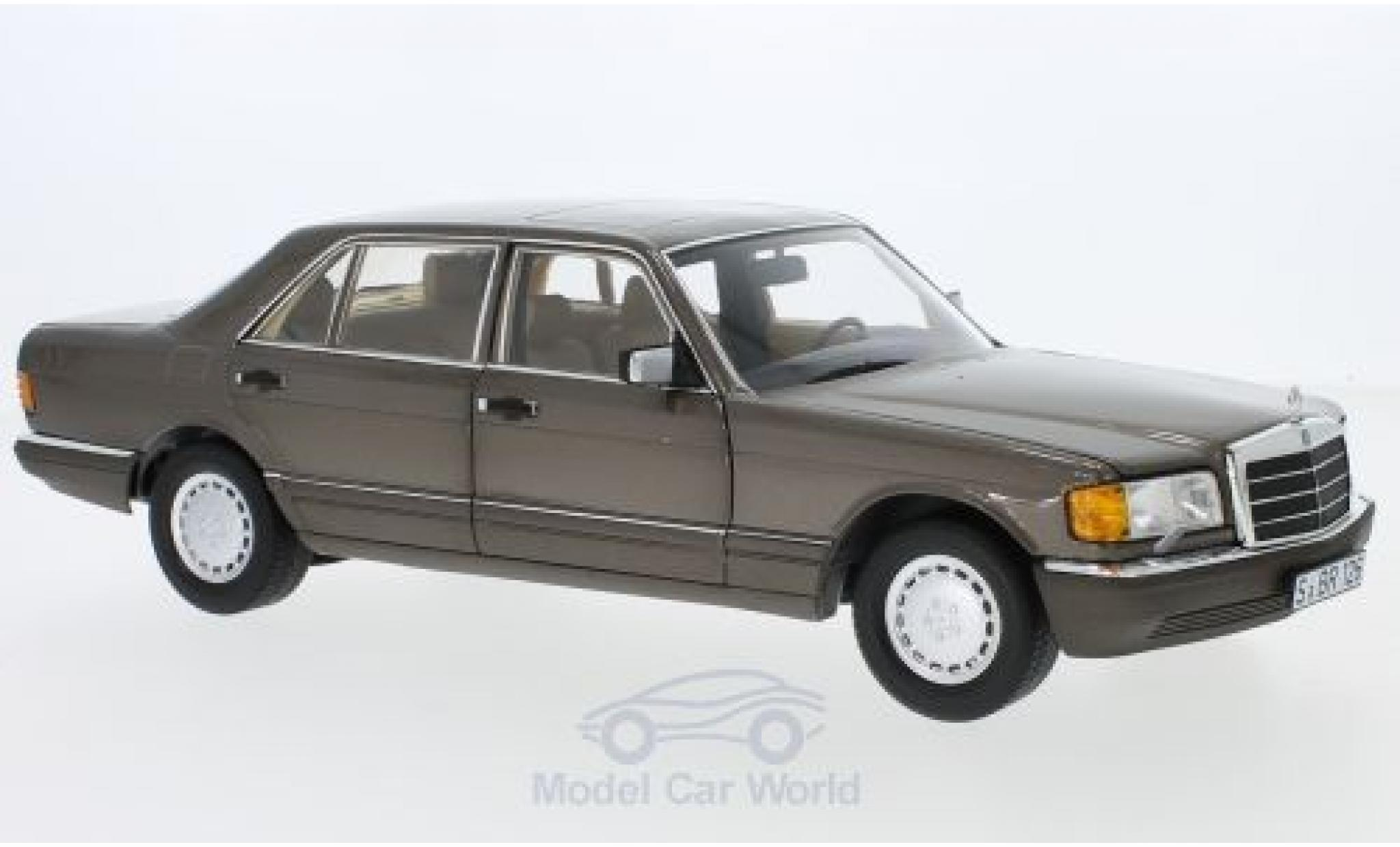 Mercedes 560 SEL 1/18 Norev SEL (V126) metallic-marron 1985