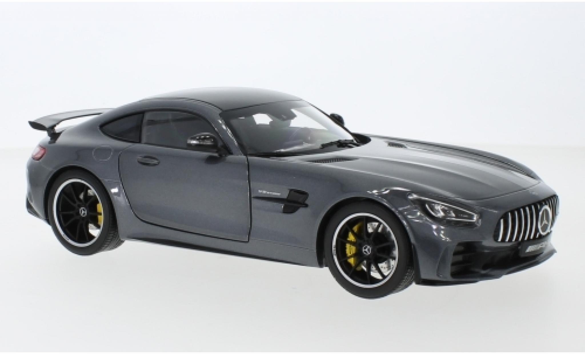 Mercedes AMG GT 1/18 I Norev R (C190) métallisé anthrazit/carbon