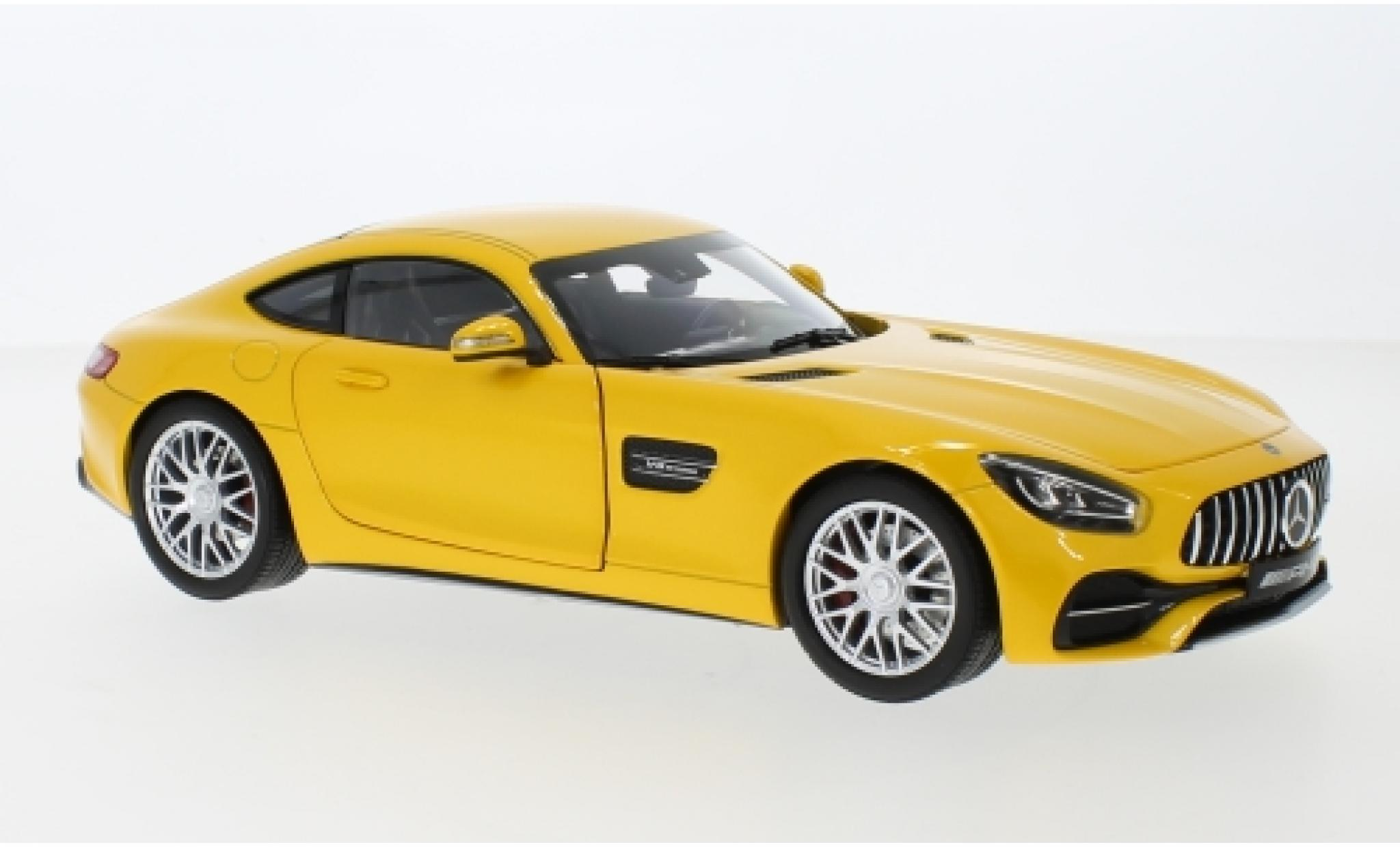 Mercedes AMG GT 1/18 I Norev S (C190) métallisé jaune