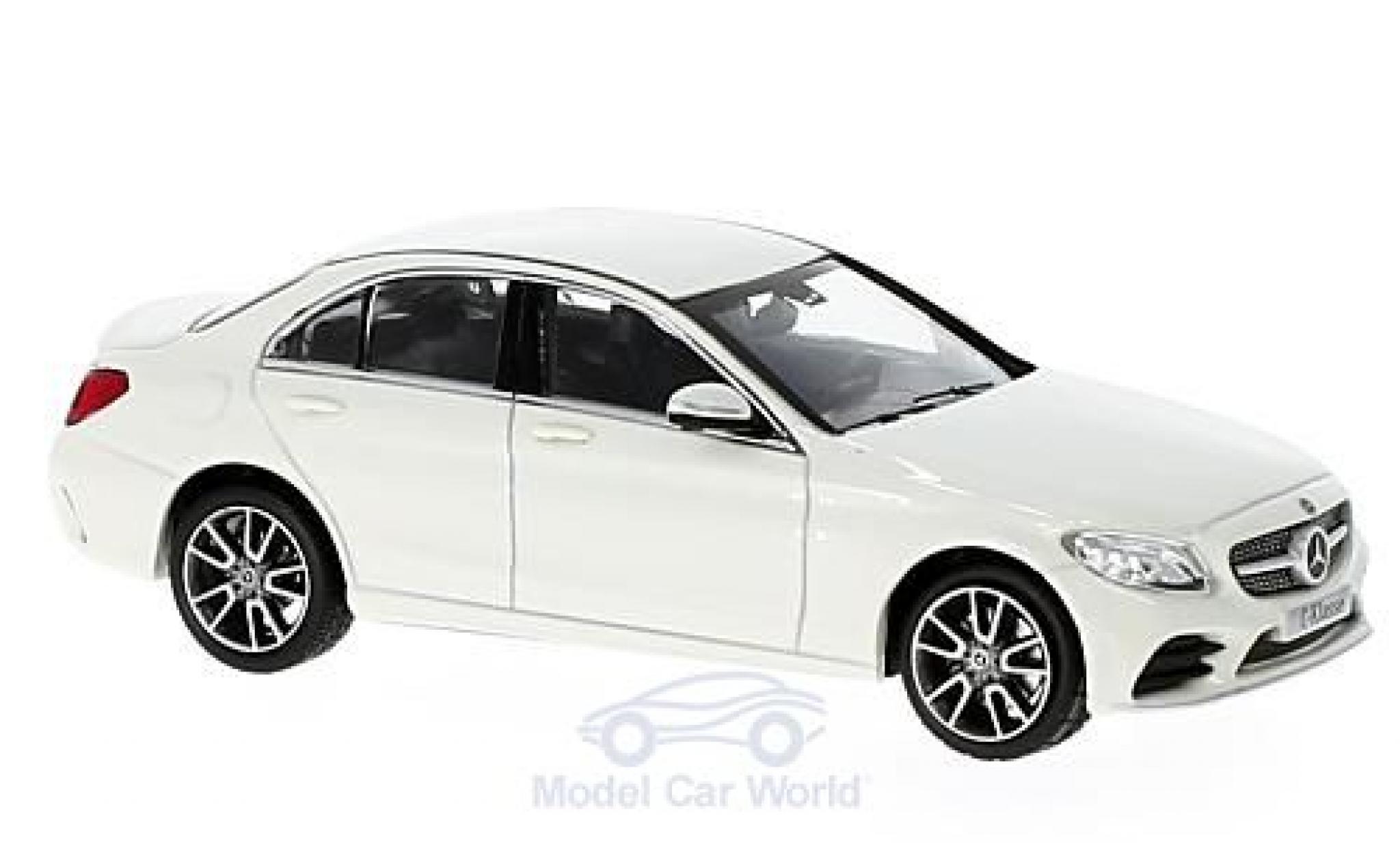 Mercedes Classe C 1/43 Norev Mopf (W205) metallise blanche