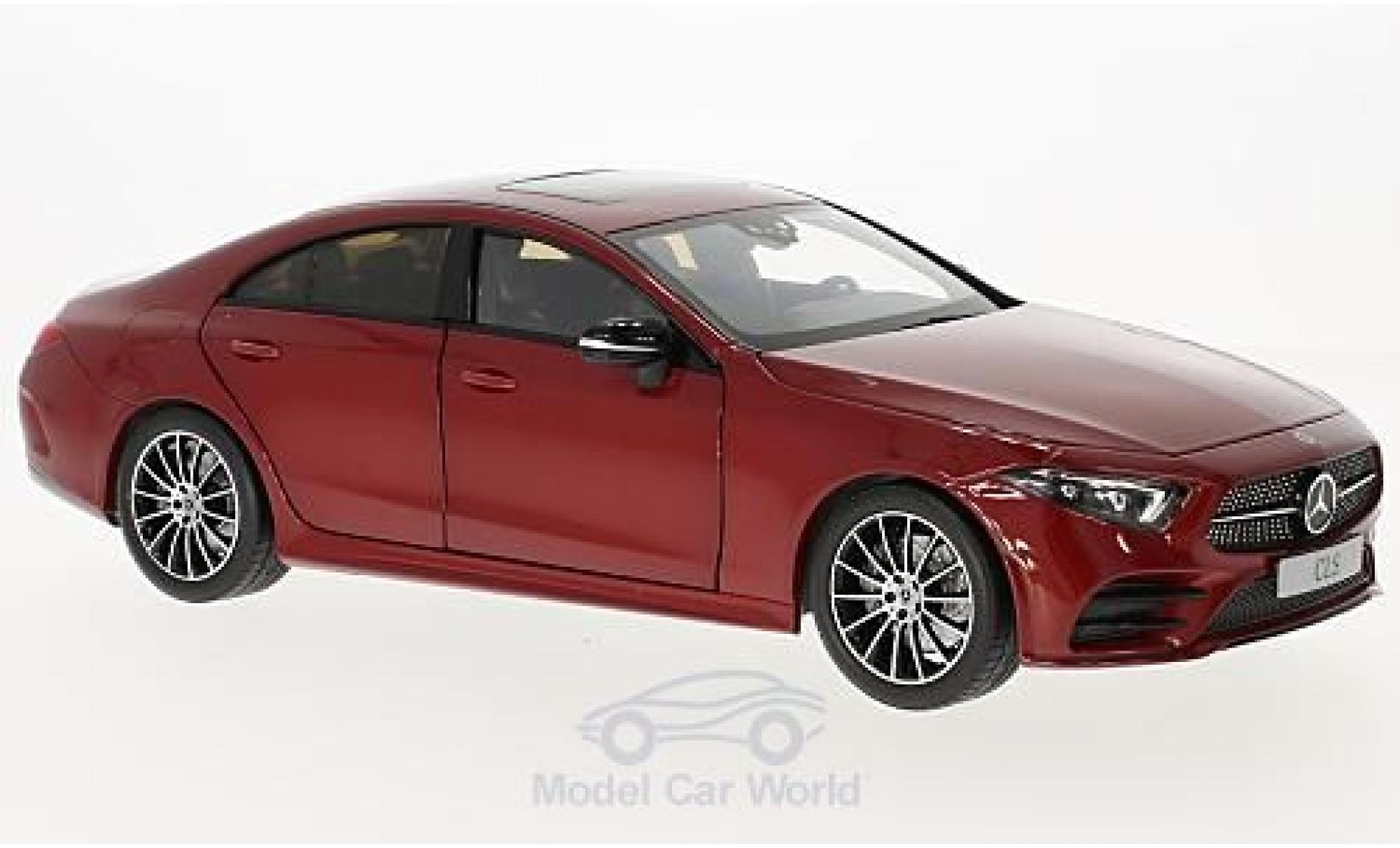 Mercedes CLS 1/18 Norev Coupe (C257) metallise rouge 2018