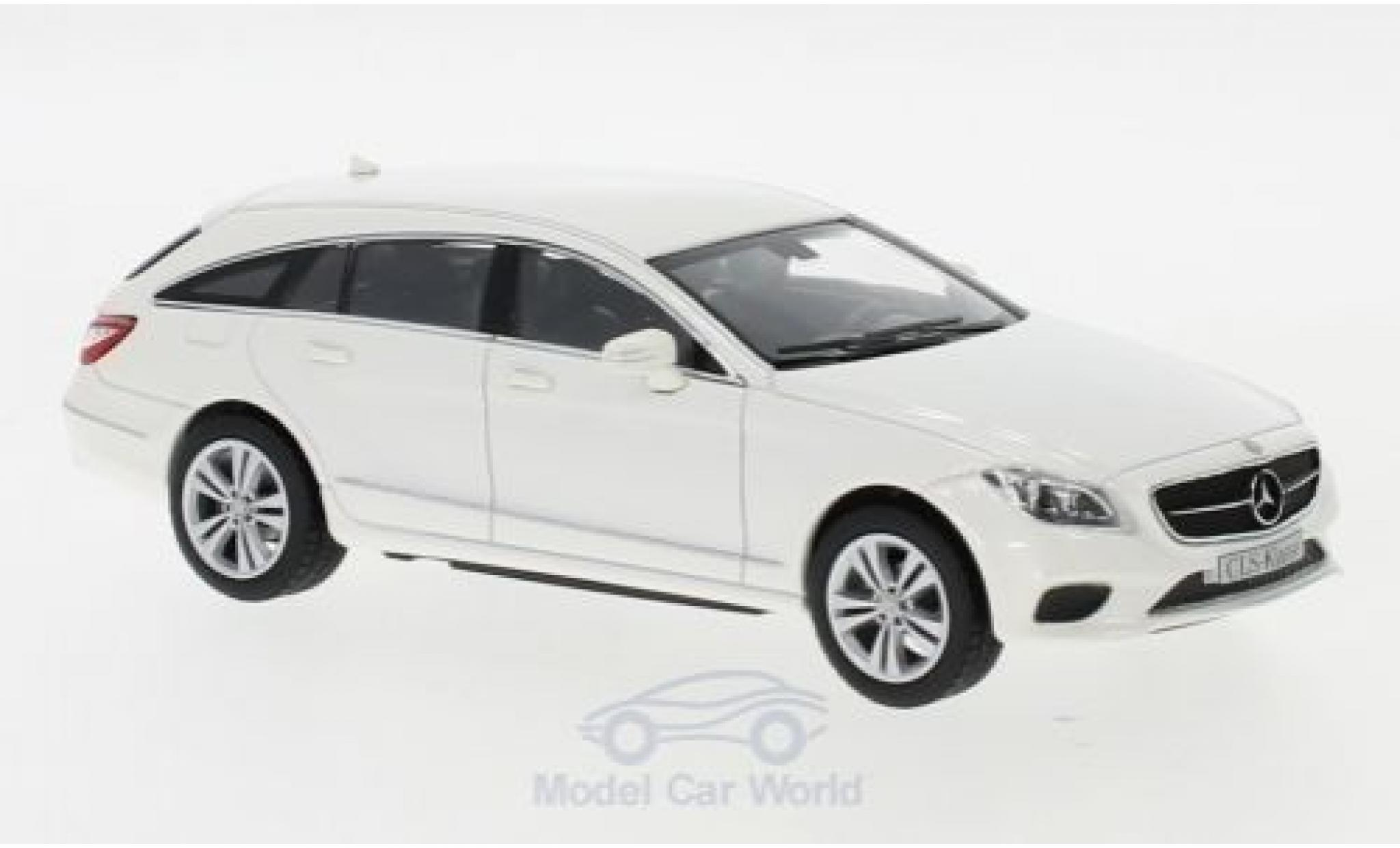 Mercedes CLS 1/43 Norev Shooting Brake (X218) blanche 2014