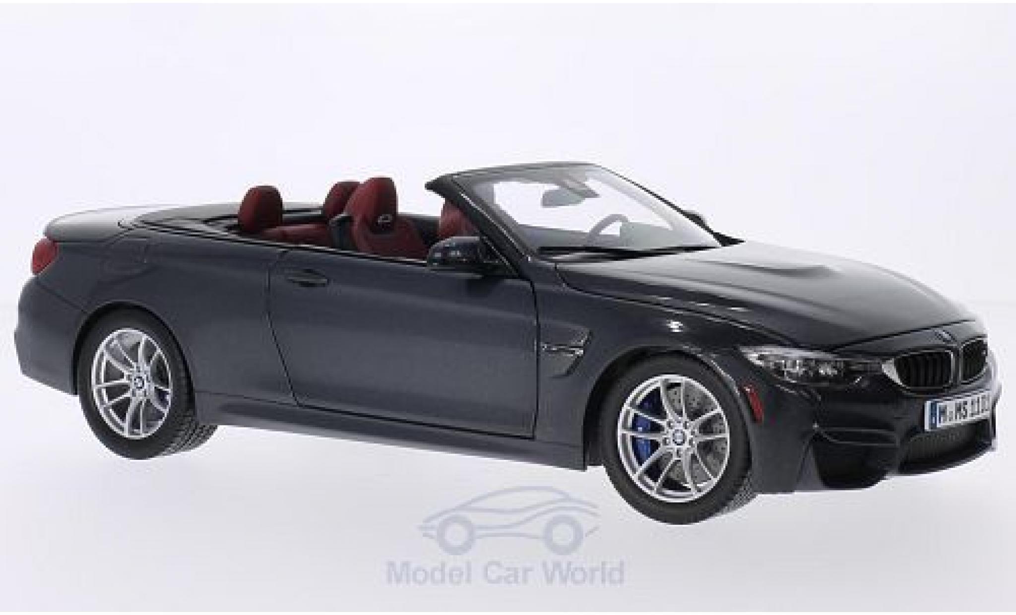 Bmw M4 F83 1/18 Paragon BMW Cabrio (F83) metallic-dunkelgrise 2014