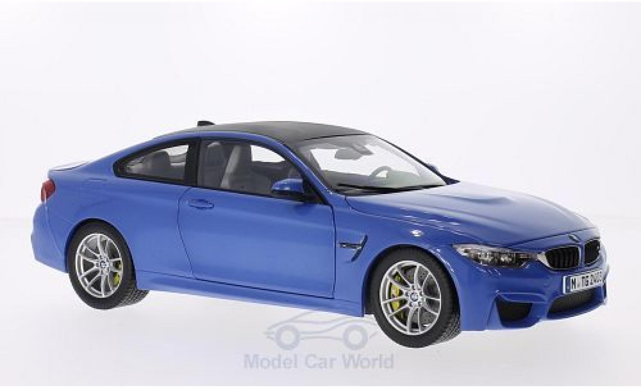 Bmw M4 1/18 Paragon BMW Coupe metallic-bleue/carbon 2014