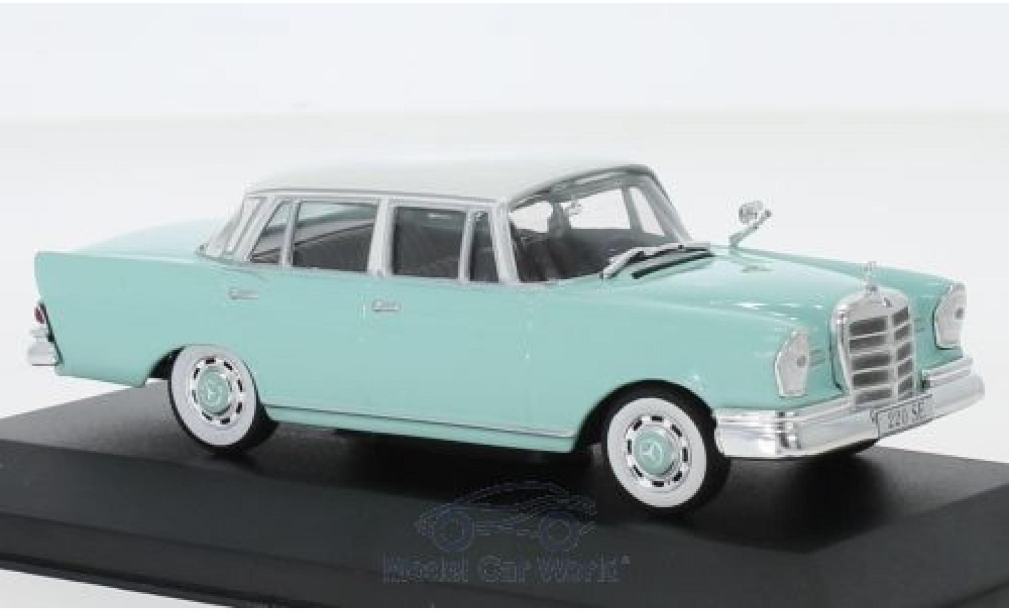 Mercedes 220 1/43 Pct SE (W111) turquoise/blanche 1959