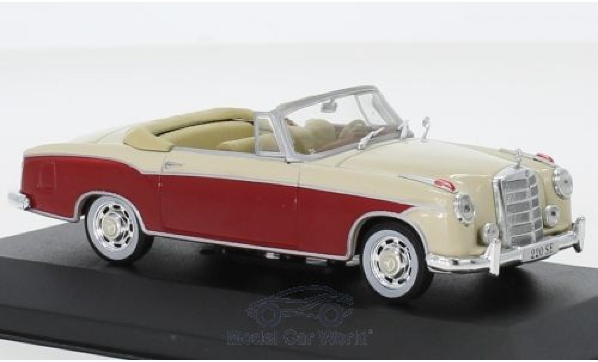 Mercedes 220 1/43 Pct SE (W128) Cabriolet rouge/beige 1958