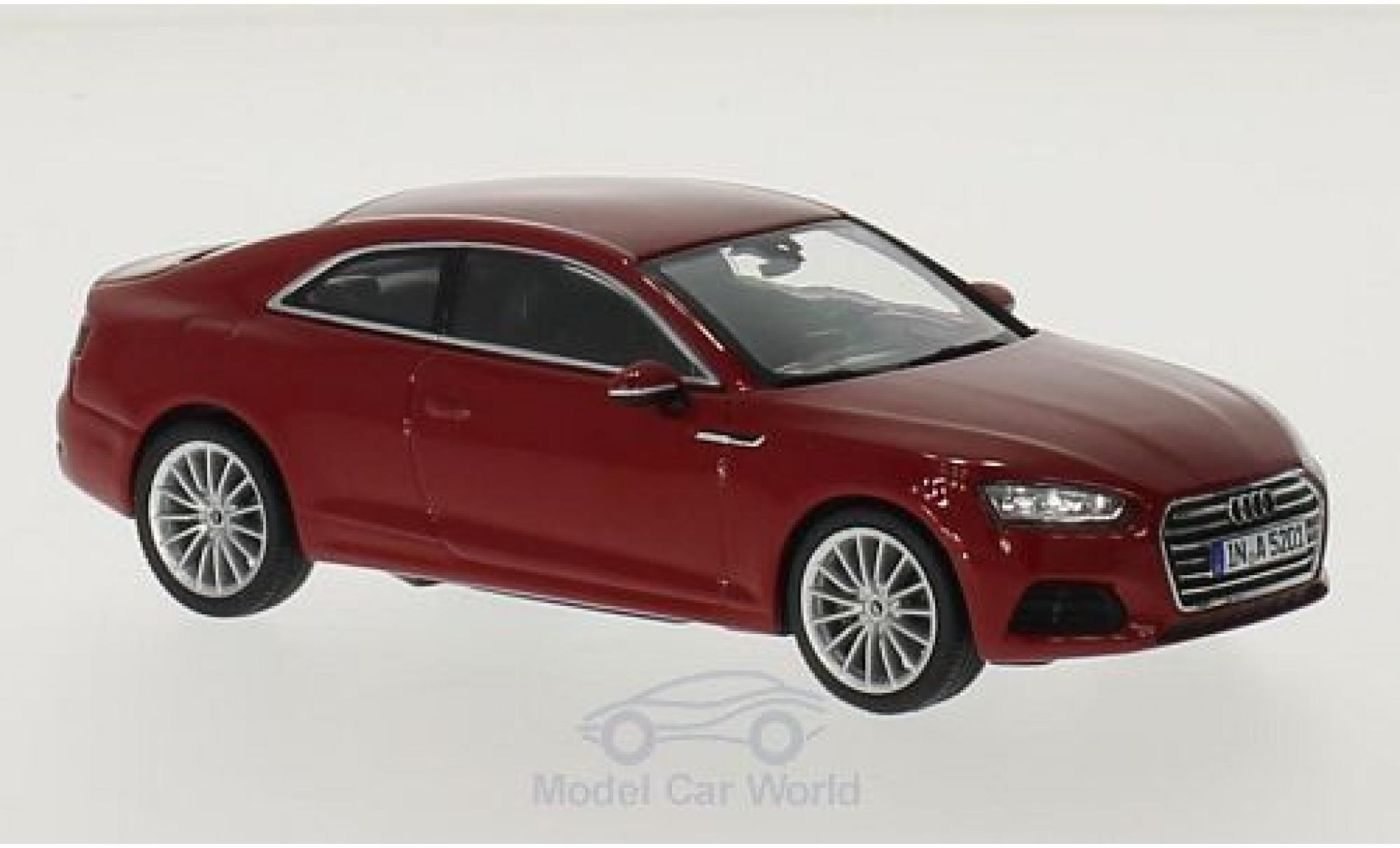 Audi A5 1/43 Spark Coupe rouge 2016