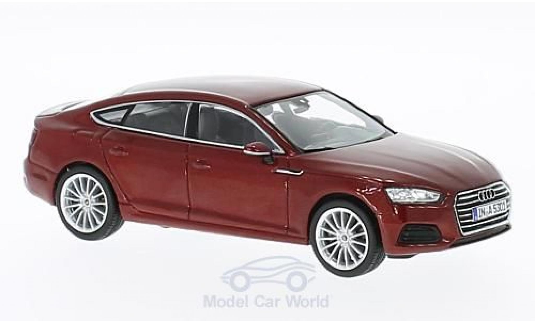 Audi A5 1/43 Spark Sportback metallic-dunkelrouge 2016
