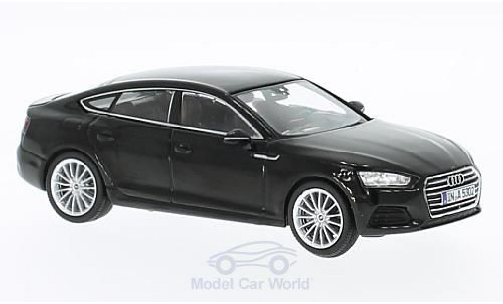 Audi A5 1/43 Spark Sportback noire 2016