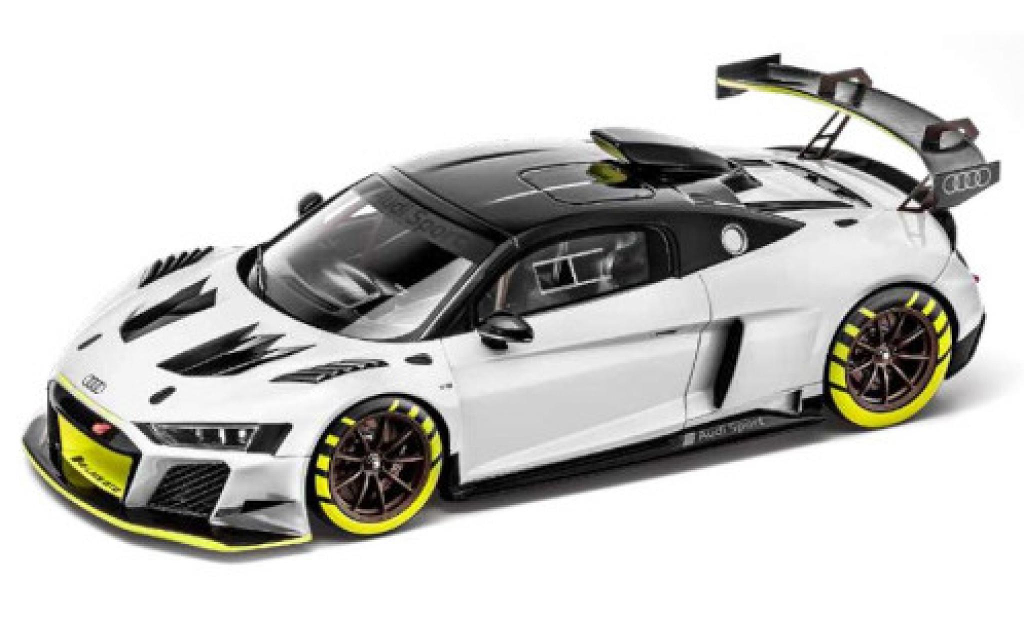 Audi R8 1/18 I Spark LMS GT2 metallise grey/Dekor 2020 véhicule de présentation