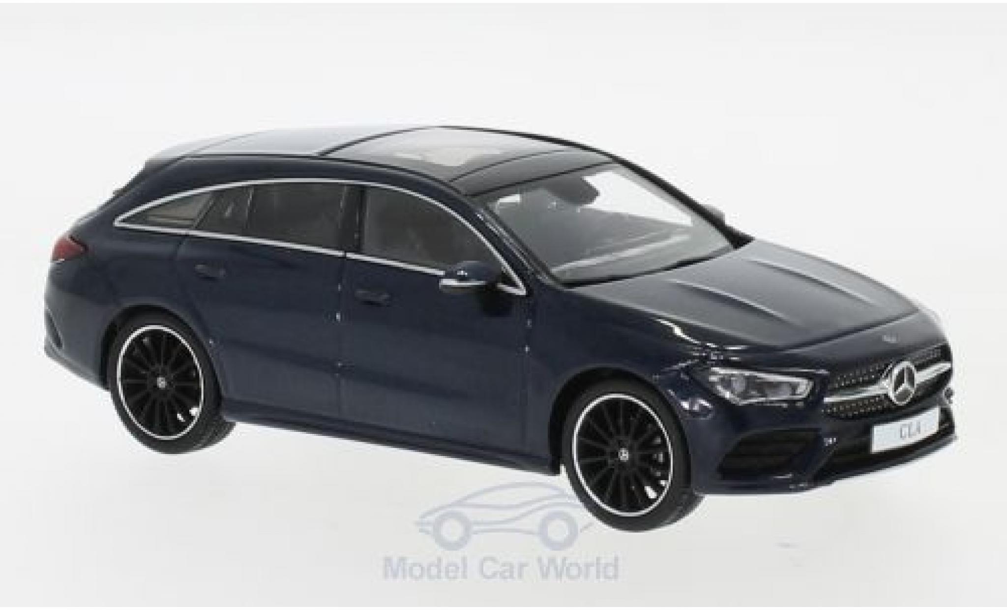 Mercedes CLA 1/43 Spark Shooting Brake metallise bleue 2019