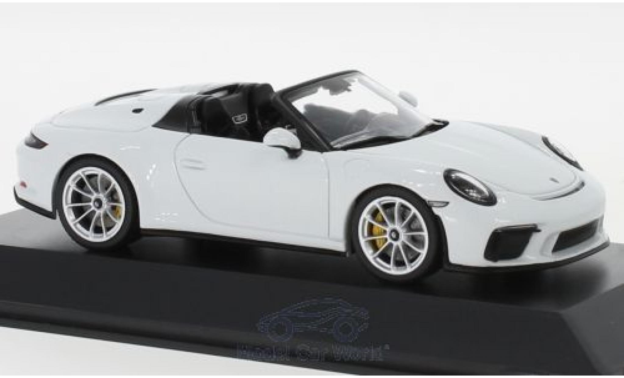Porsche 992 Speedster 1/43 Spark 911 (991 II) blanche 2019
