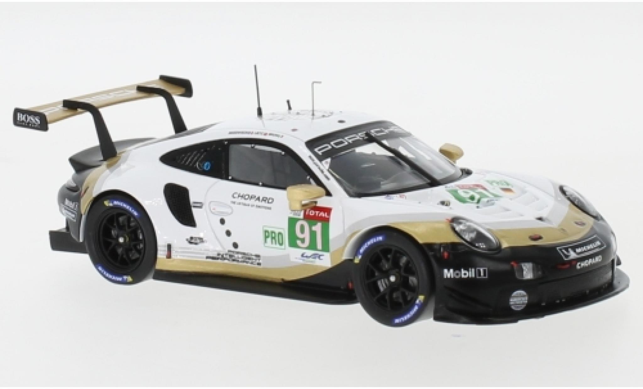 Porsche 911 1/43 I Spark (992) RSR No.91 Markenweltmeister WEC SuperSeason 24h Le Mans 2018 G.Bruni/R.Lietz/F.Makowiecki