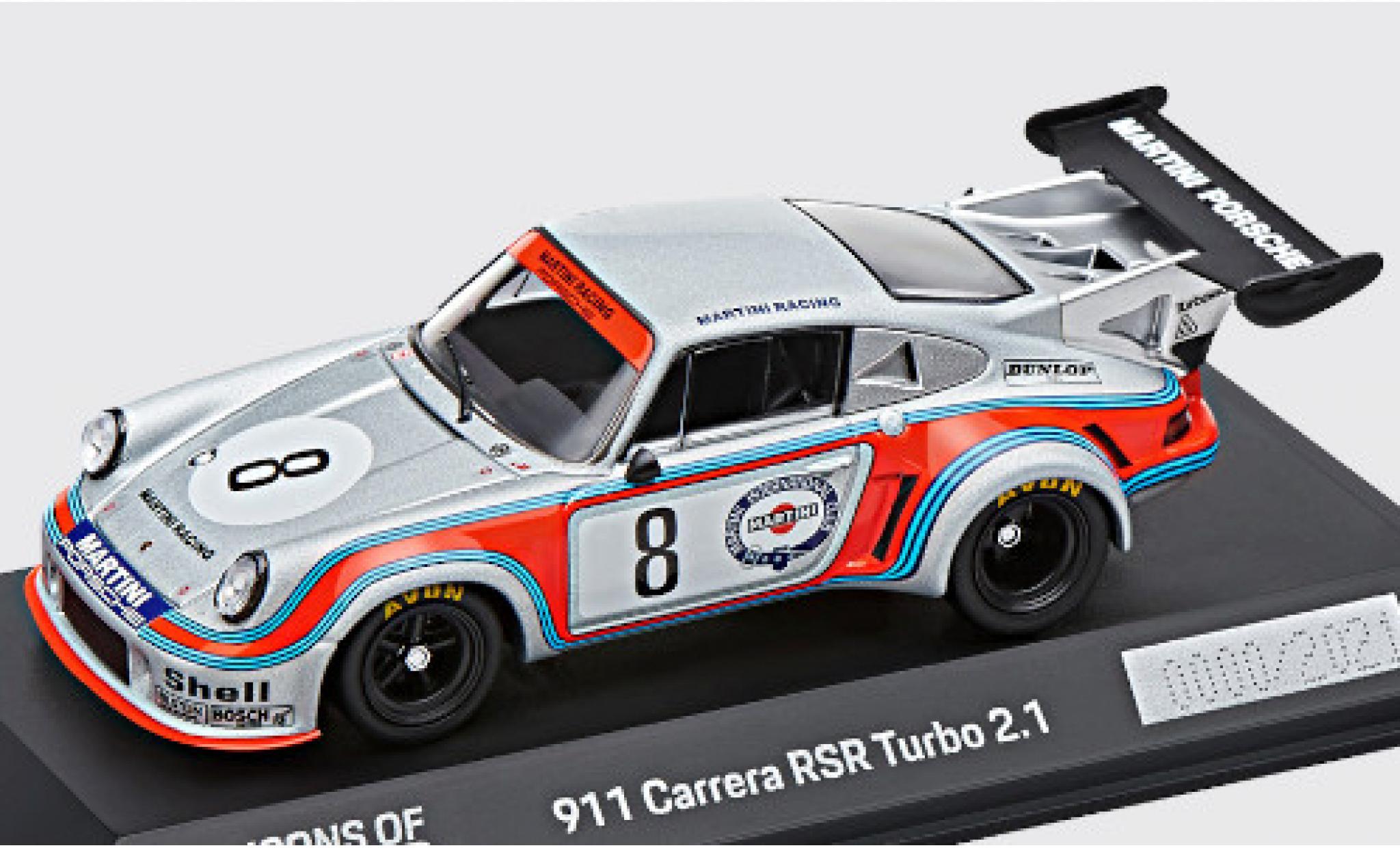 Porsche 930 Turbo 1/43 I Spark 911 Carrera RSR 2.1 No.8 Martini Racing System Martini 1000km Nürburgring 1974 H.Müller/G.van Lennep