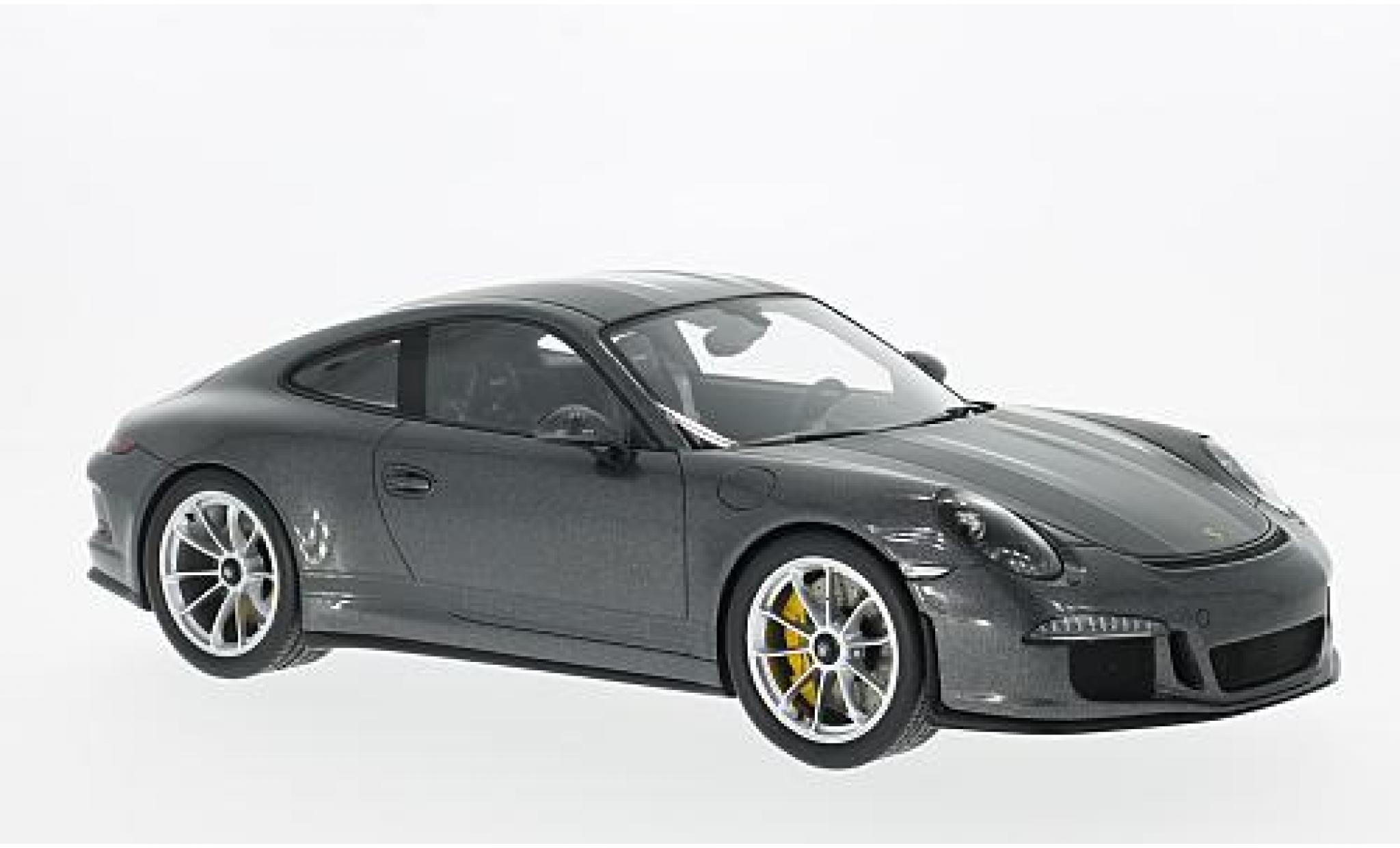 Porsche 991 R 1/18 I Spark 911  metallise grise 2017