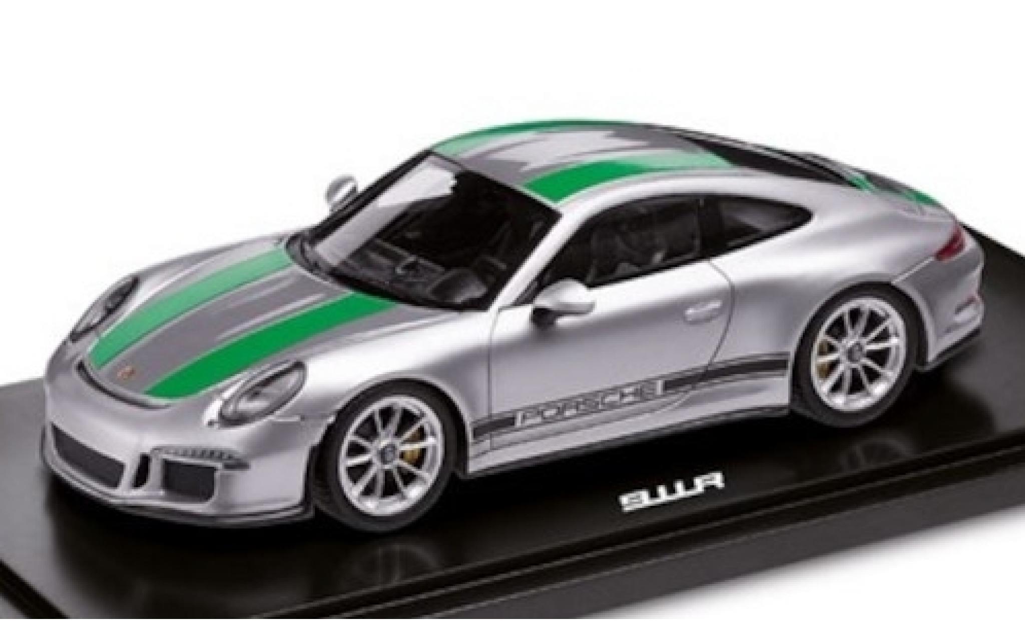 Porsche 991 R 1/18 I Spark 911  grise/verte 2017