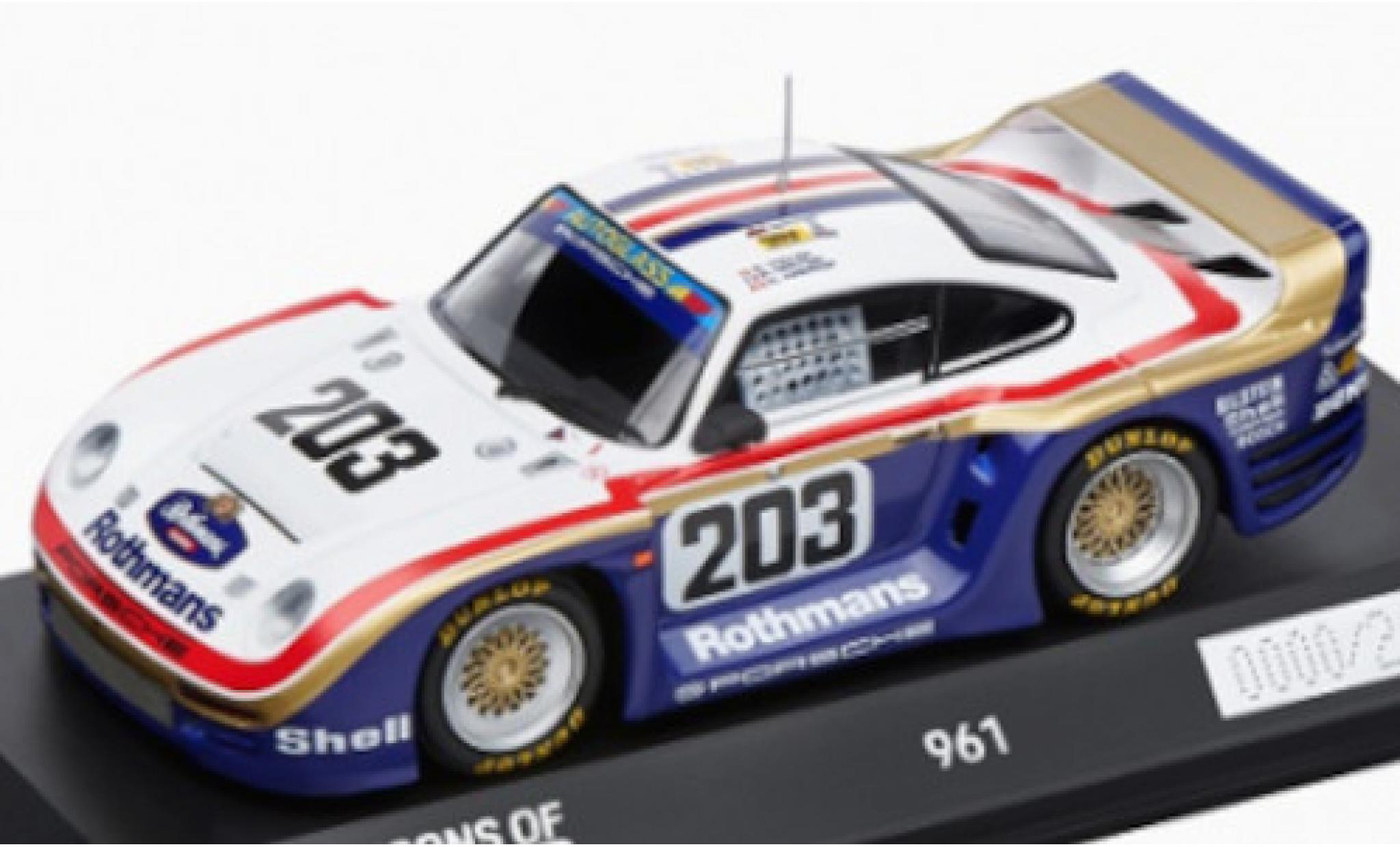 Porsche 961 1/43 I Spark No.203 Rothmans AG Rothmans 24h Le Mans 1987 R.Metge/C.Haldi/K.Nierop