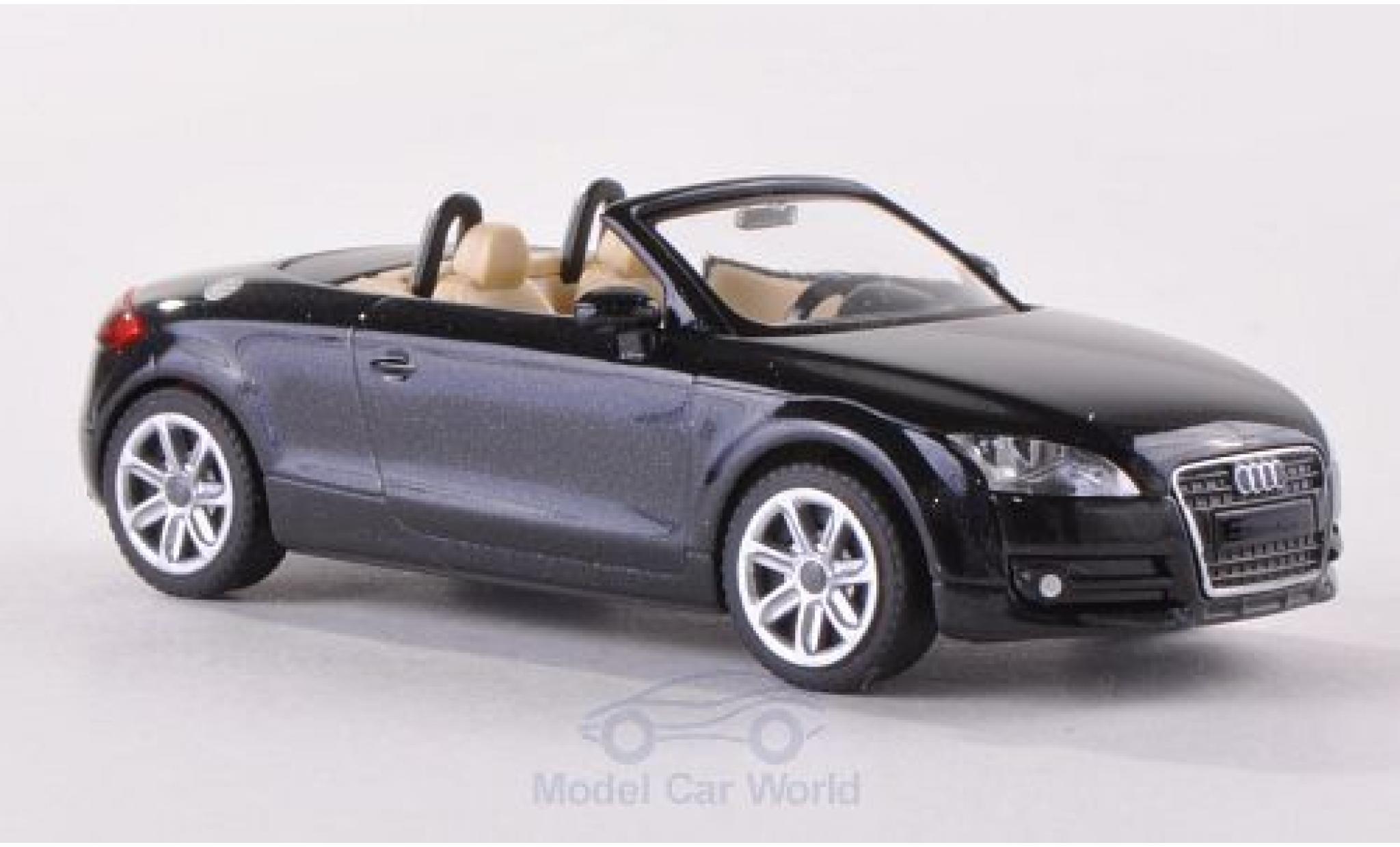 Audi TT 1/87 Wiking Roadster (8J) metallise noire 2007