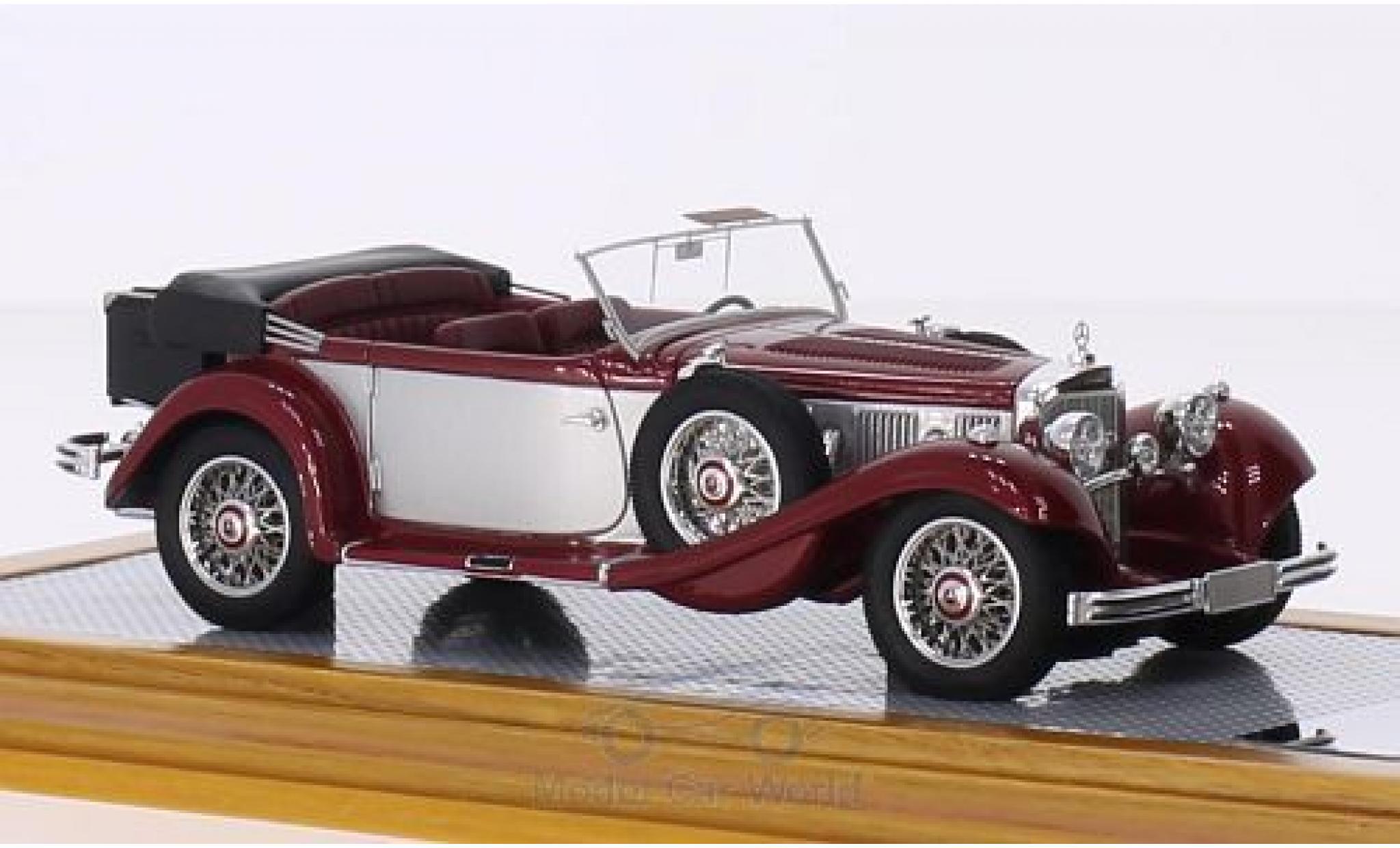 Mercedes 500 1/43 Ilario K Tourenwagen métallisé rouge/grise 1935 sn113663