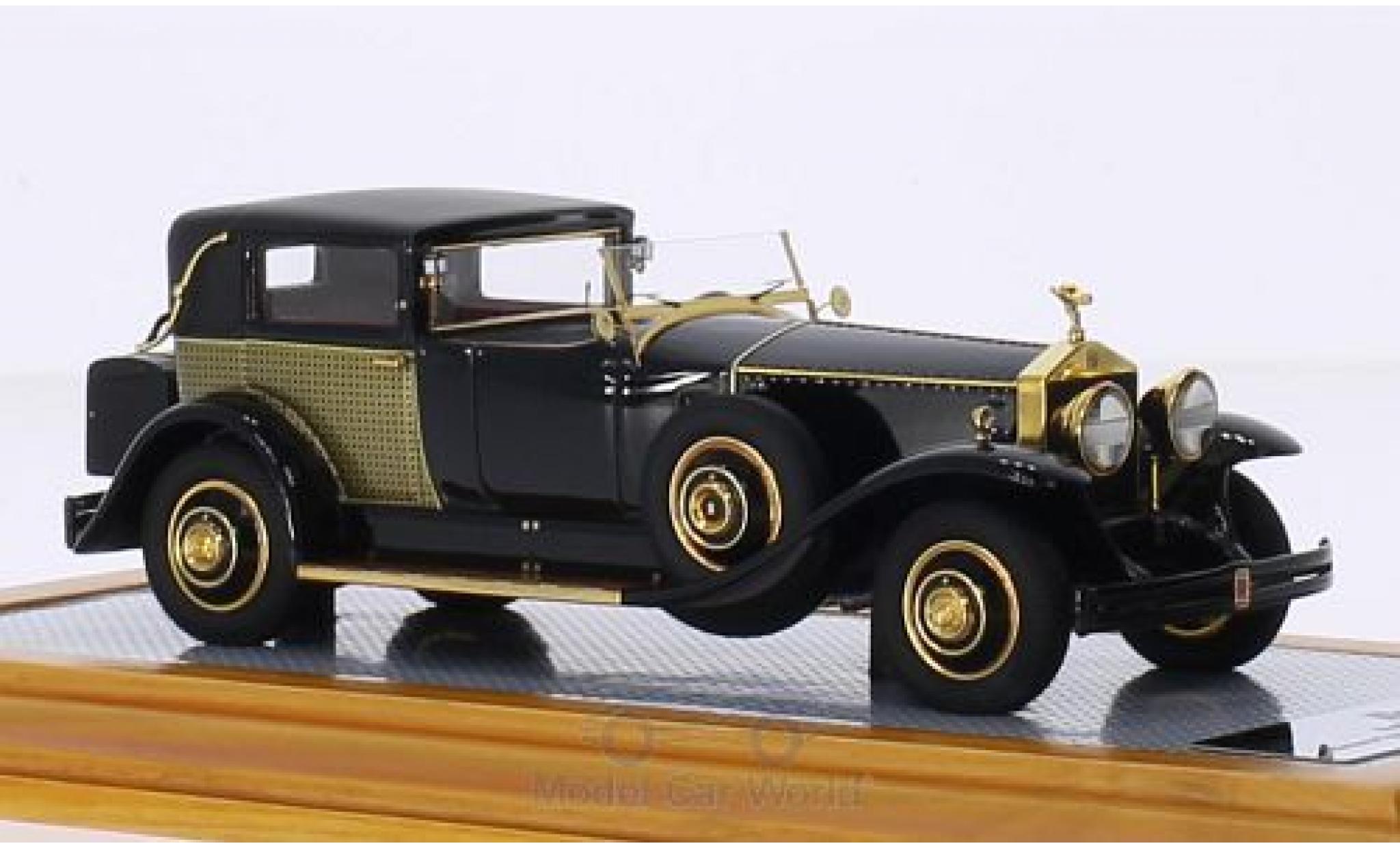 Rolls Royce Phantom 1/43 Ilario I Riviera Town Brougham Brewster noire/Dekor RHD 1929 snS390LR