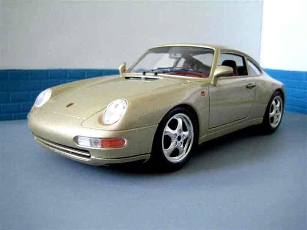Porsche 993 Carrera 1/18 Burago champagne miniature
