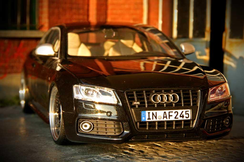 Audi S5 1/18 Norev nero jantes alu 19 pouces diffuseur carbone
