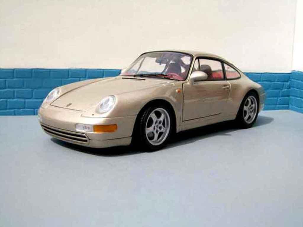 Porsche 993 Carrera 1/18 Ut Models Carrera champagne miniature