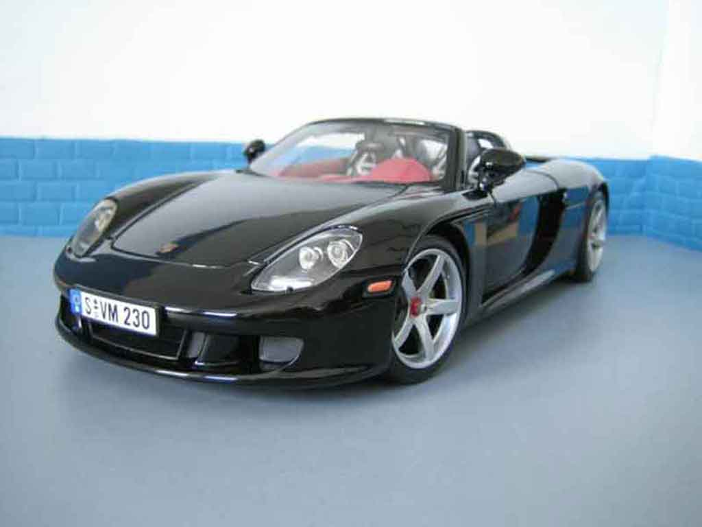 Porsche Carrera GT 1/18 Motormax black diecast model cars