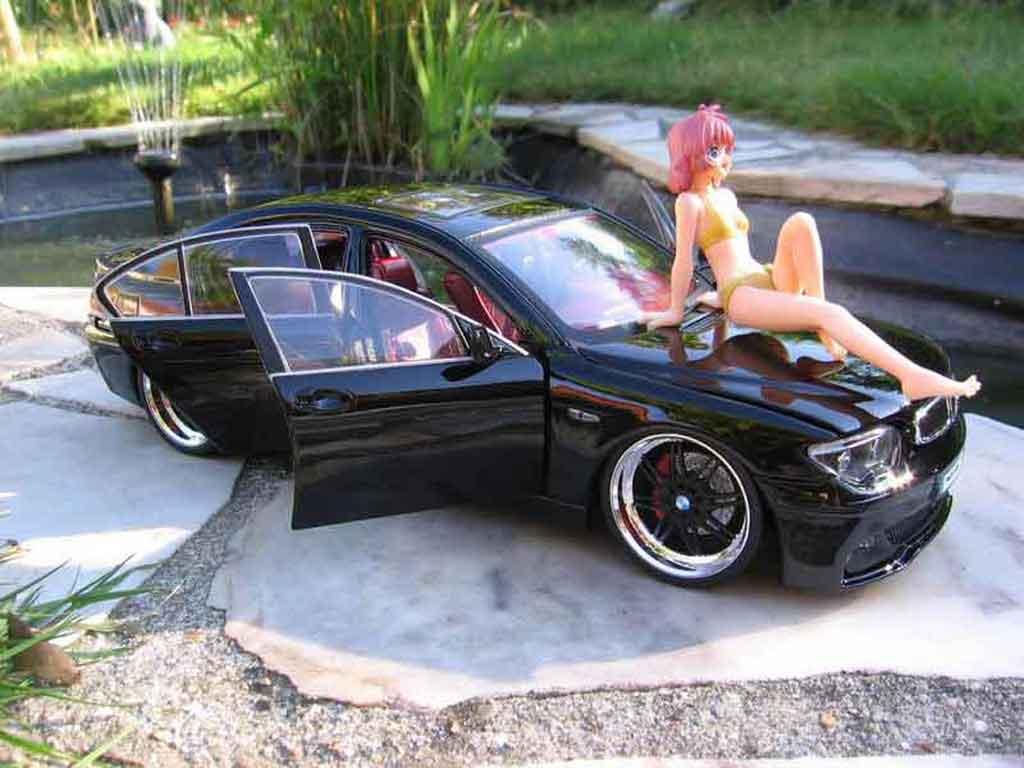 Bmw 745 E65 I E65 Dub Black Kyosho Diecast Model Car 1 18