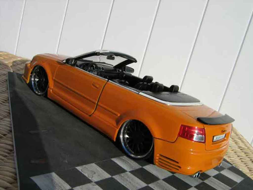 Diecast Audi A4 Cabriolet 1 18 Welly Turbo Tuning Orange Kit Techart