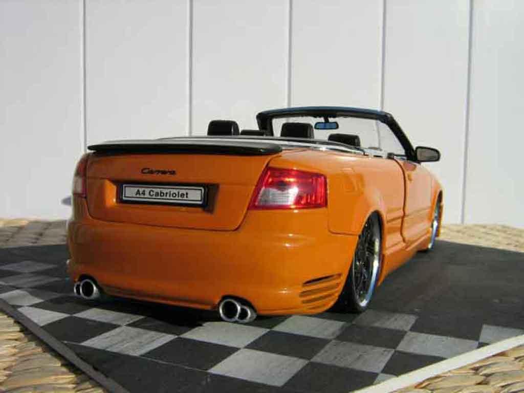 Audi A4 cabriolet 1/18 Welly turbo tuning arancione kit techart jantes bbs