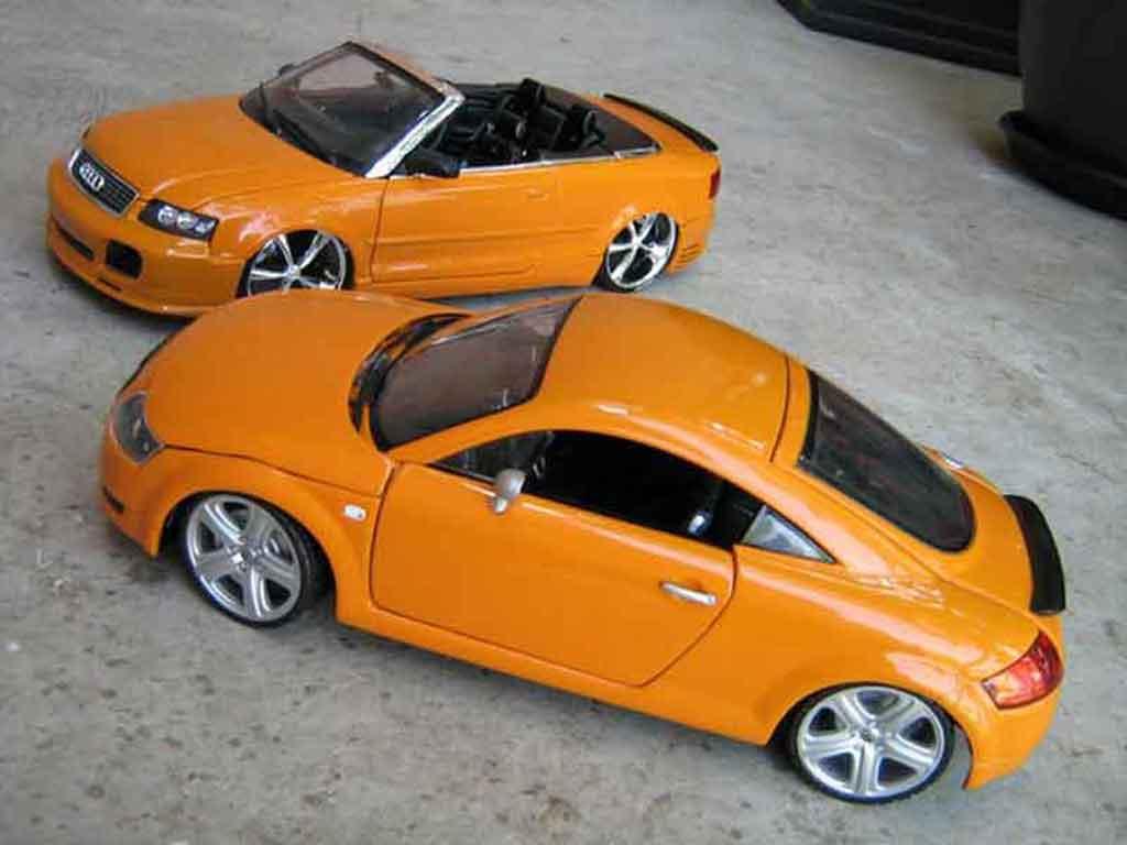 Audi TT coupe orangesignal porsche jantes touareg tuning Revell. Audi TT coupe orangesignal porsche jantes touareg miniature auto miniature 1/18
