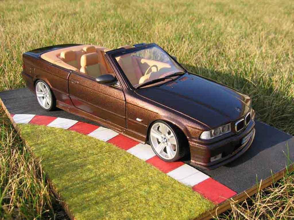 Bmw M3 E36 cabriolet 1/18 Ut Models jantes e92 interieur cuir biton