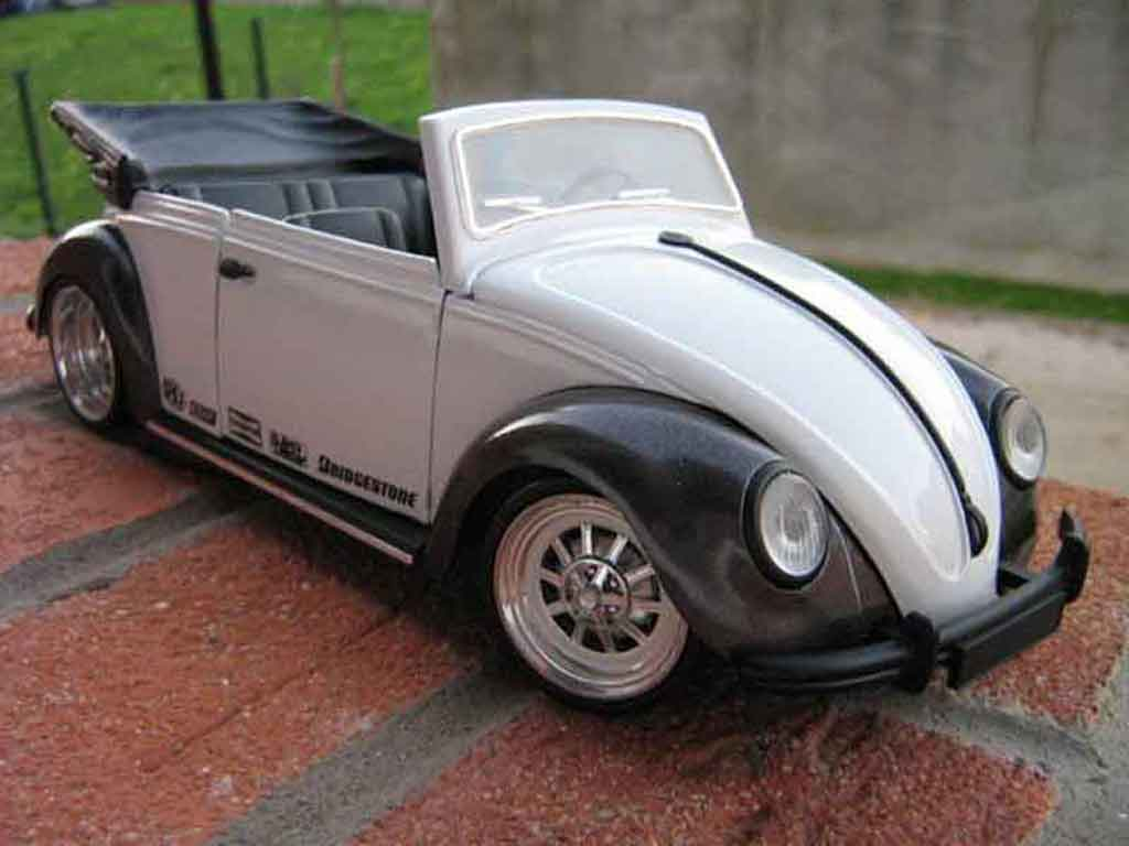 Volkswagen Kafer Coccinelle Cabriolet 1/18 Solido race air tuning miniature