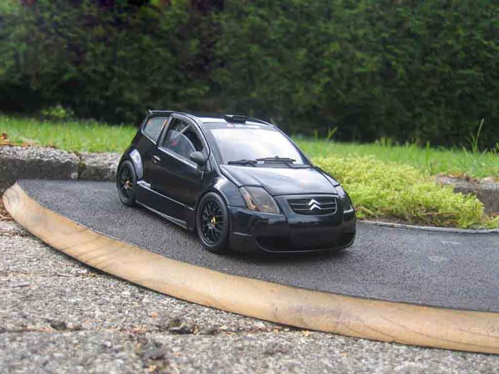 citroen c2 miniature street race trohpy solido 1 18 voiture. Black Bedroom Furniture Sets. Home Design Ideas