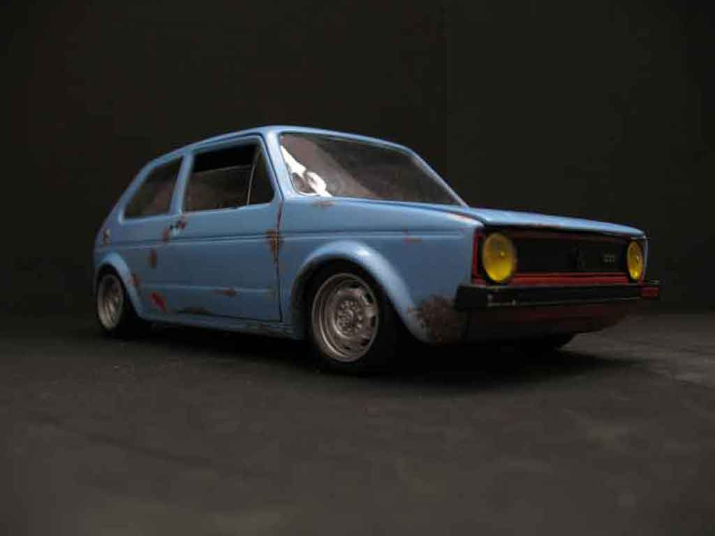 Volkswagen Golf 1 GTI 1/18 Solido old school vr6 tuning miniature