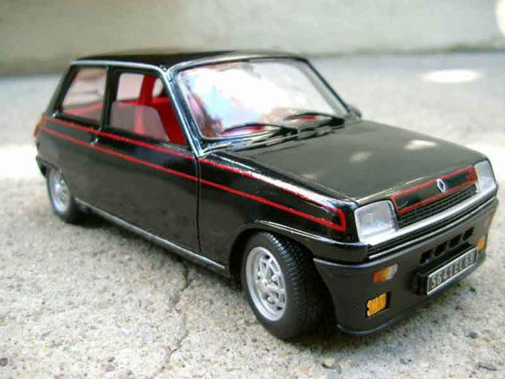 Renault 5 Alpine 1/18 Solido turbo negro tuning coche miniatura