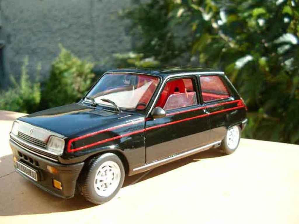 Renault 5 Alpine 1/18 Solido turbo noire