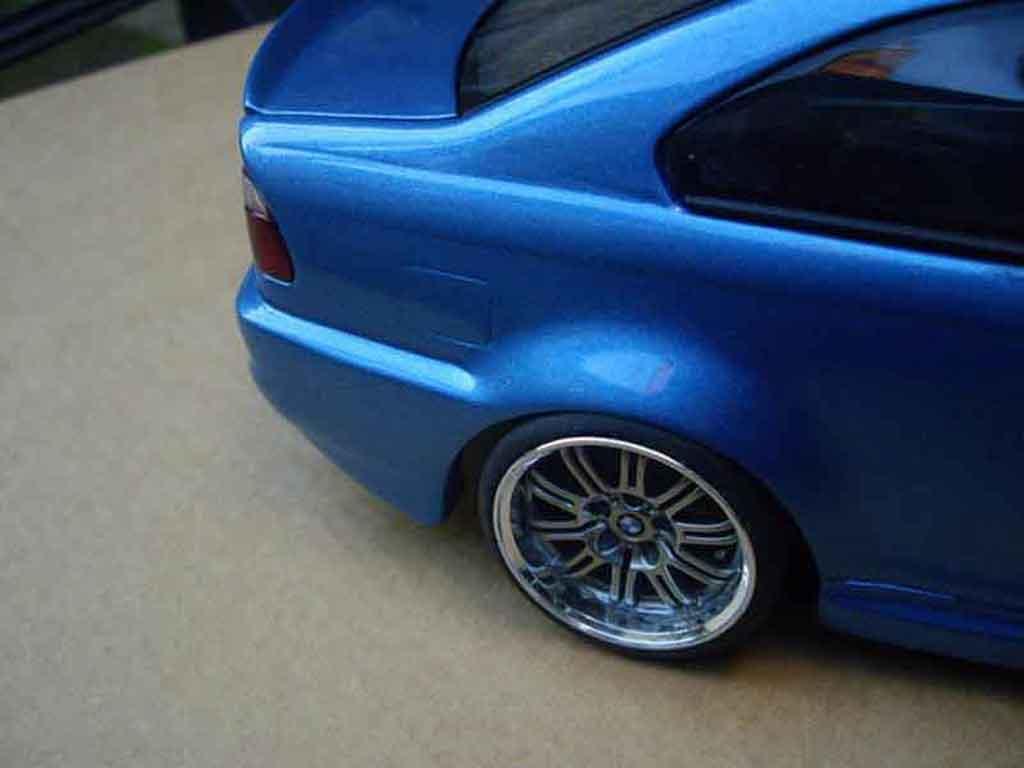 Bmw M3 E46 Tuning Kit Carrosserie Blu Metallizzato Autoart