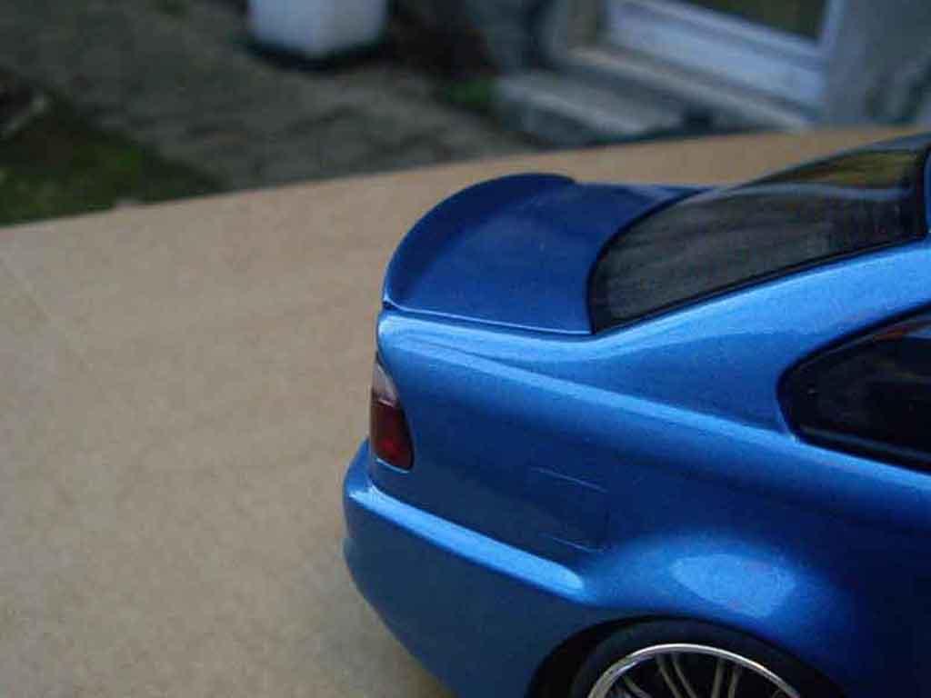 Bmw M3 E46 1/18 Autoart tuning kit carrosserie bleu metallized