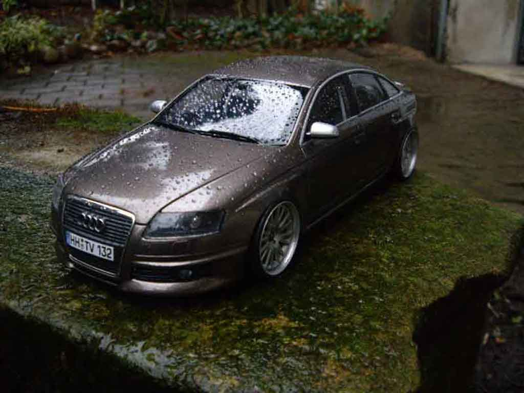 Audi A6 1/18 Norev 3.2 v6 jantes 18 pouces tuning diecast model cars